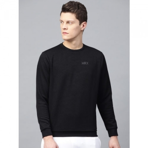 HRX by Hrithik Roshan Men Black Running Round Neck Sweatshirt