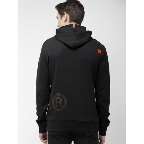 Superdry Men Black Printed Hooded Sweatshirt