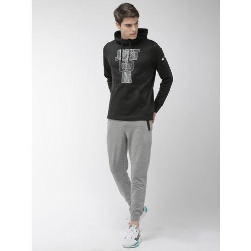 Nike Men Black Printed Hooded AS M NK THRMA Pullover Training Sweatshirt BV3895-010