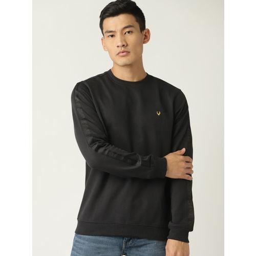 Allen Solly Sport Men Black Solid Sweatshirt