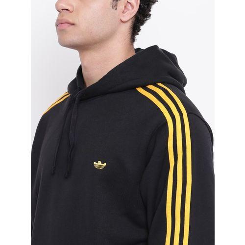 ADIDAS Originals Men Black Solid Mini Shmoo Hooded Sweatshirt