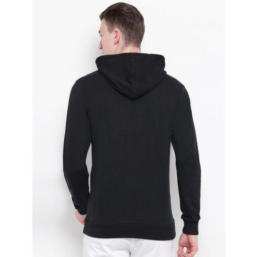 ADIDAS Men Black & White Printed Must Have Badge Of Sport FT Hooded Sweatshirt