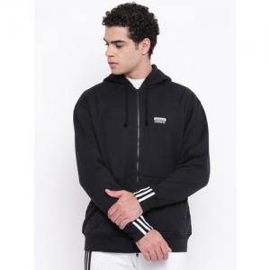 ADIDAS Originals Men Black R Y V Full Zip Hooded Sweatshirt