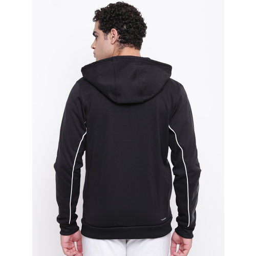 ADIDAS Men Black Basketball SPT Full-Zip Hooded Sweatshirt