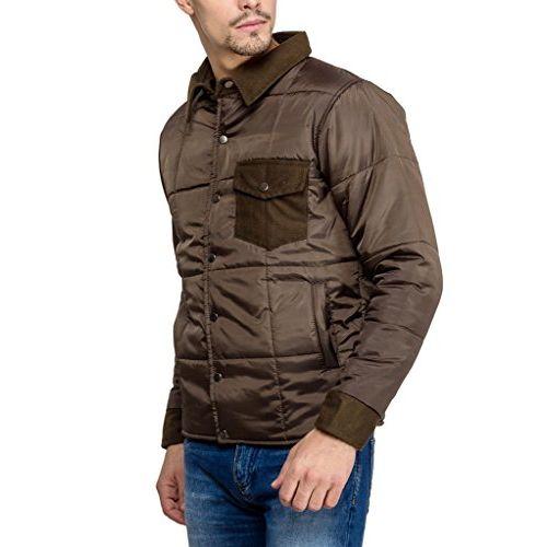 Campus Sutra Brown Mens cotton Jacket