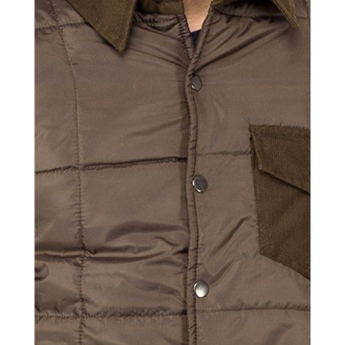 Campus Sutra Brown Mens Jacket