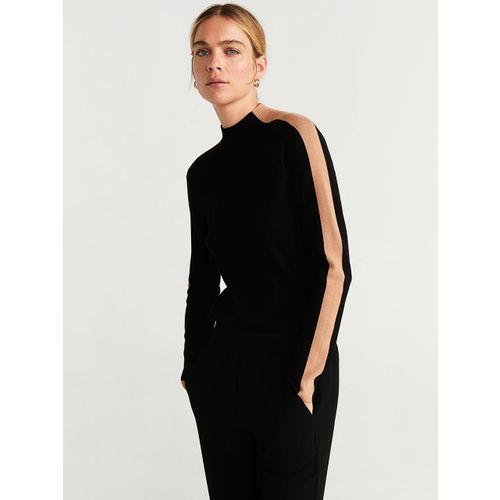 MANGO Women Black Solid Sweater