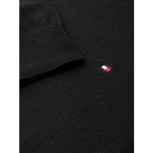 Tommy Hilfiger Women Black Solid Sweater