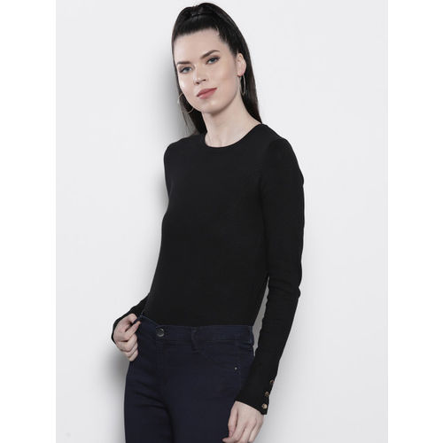 DOROTHY PERKINS Women Black Solid Sweater
