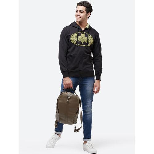 Batman Men Black Printed Hooded Sweatshirt