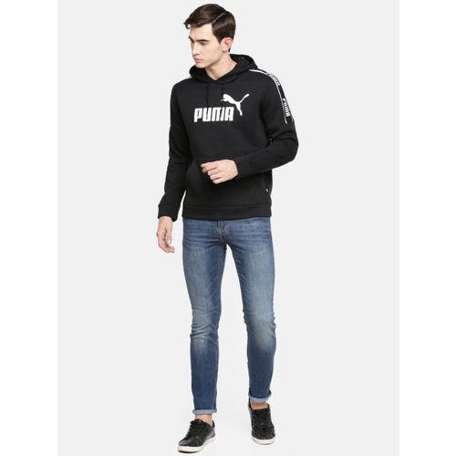Puma Men Black Printed Amplified Hoody FL Sweatshirt