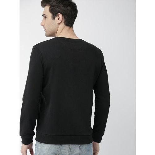 Denizen From Levis Men Black Printed Sweatshirt