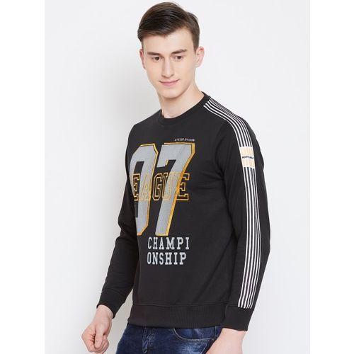 Monte Carlo Men Black & White Printed Sweatshirt