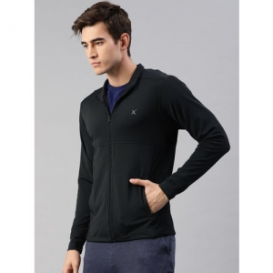 HRX by Hrithik Roshan Men Black Solid Rapid Dry Sweatshirt