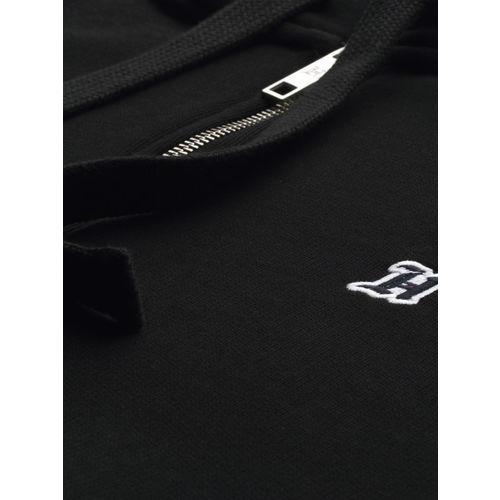 Tommy Hilfiger X Lewis Hamilton Men Black Solid Hooded Sweatshirt