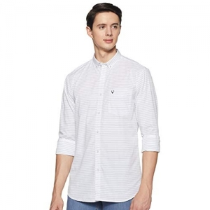 Allen Solly White Slim fit Casual Shirt