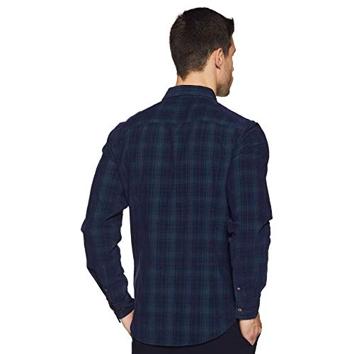 United Colors of Benetton Navy Blue Checkered Slim fit Casual Shirt
