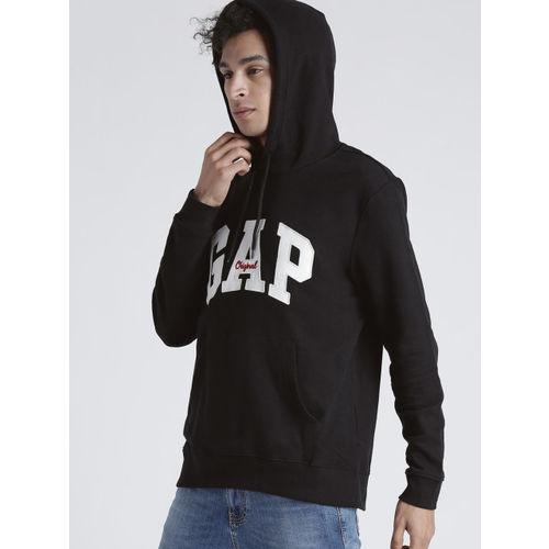 GAP Men's Black Logo Hoodie Sweatshirt