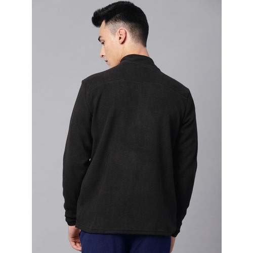 HRX by Hrithik Roshan Outdoor Men Black Solid Sweatshirt