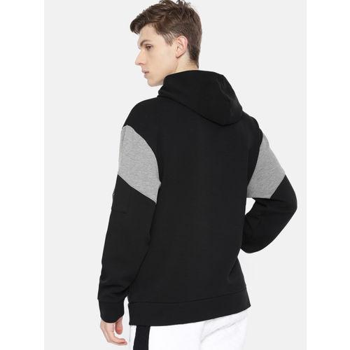 Puma Men Black Printed NU-TILITY Hooded Sweatshirt