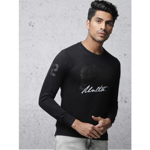 Ecko Unltd Men Black Printed Sweatshirt