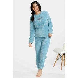 Zivame Fluffy Fur Sleep Top - Blue
