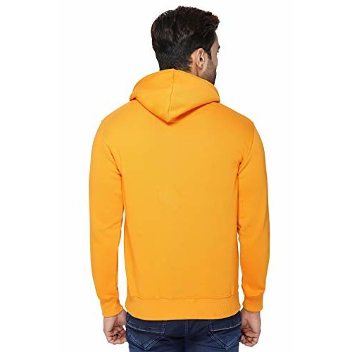 Urban Age Clothing Co. Men's Cotton Blend Fleece Plain Hoodie with Pouch Pockets Sweatshirt for Winters Temperature 0 Degrees to 25 Degrees