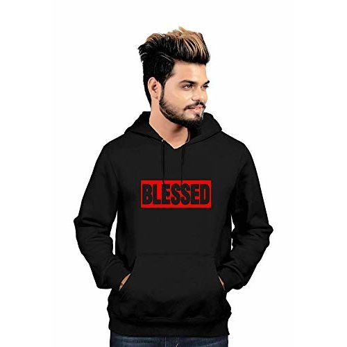 More & More Unisex Blessed Printed Cotton Hoodies