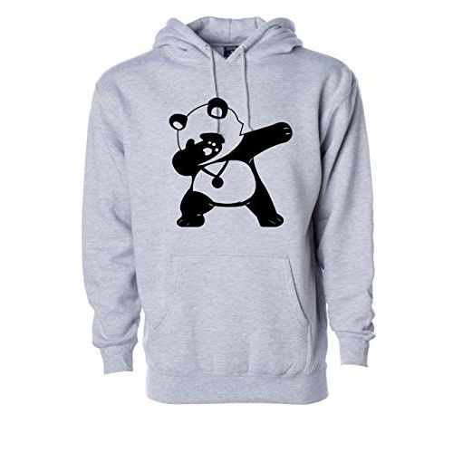WearIndia Unisex Dancing Panda Printed Cotton Hoodies Sweatshirt for Men and Women with Kangaroo Pocket
