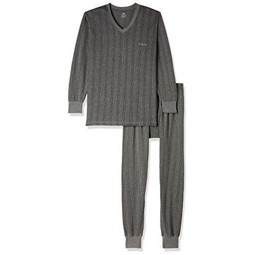 Lux Inferno Mens Cotton Thermal Set (Inferno_CH_FS_VN_TRO_Set_95_Charcoal Melange_X-Large)