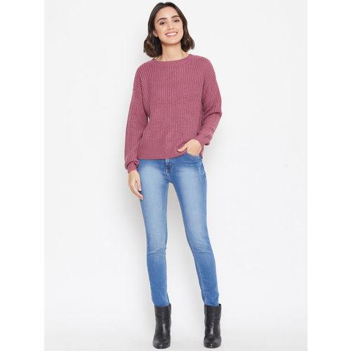 Vero Moda Women Pink Solid Sweater