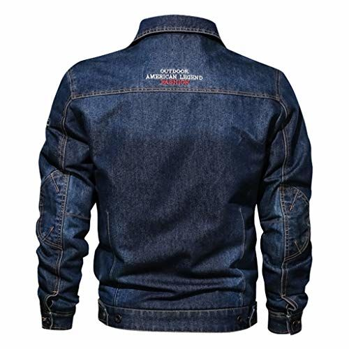Rosatro Men Casual Jackets Western Style Trucker Jacket with Pocket Denim Jeans Classic Coat Top