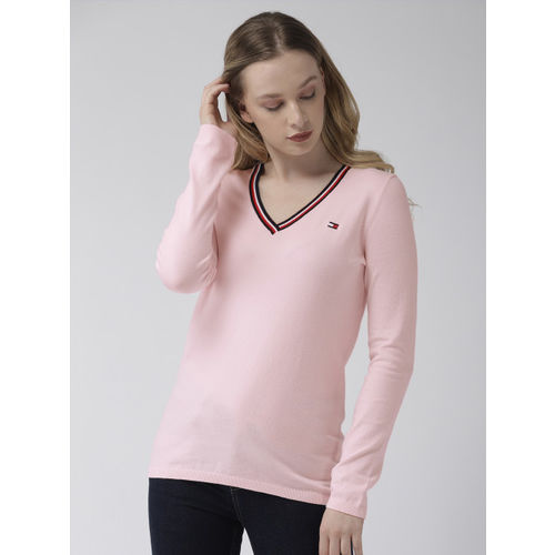Tommy Hilfiger Women Pink Solid Sweater