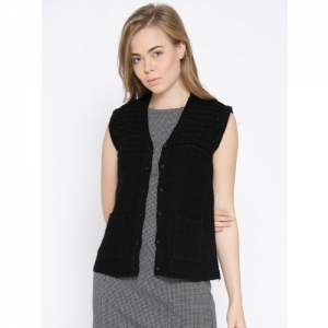 Cayman Women Button Self Design Cardigan