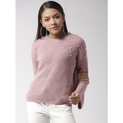 Madame Women Pink Shimmery Pullover