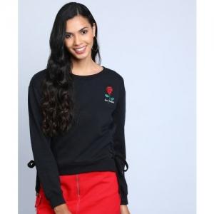 Forever 21 Full Sleeve Solid Women Sweatshirt