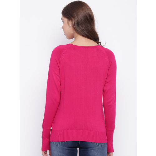 Madame Women Pink Solid Pullover