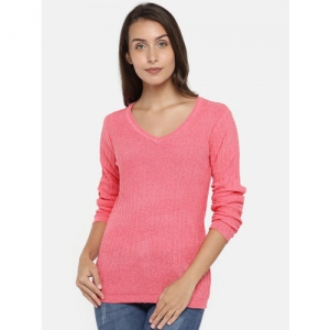 Manola Women Pink Solid Pullover