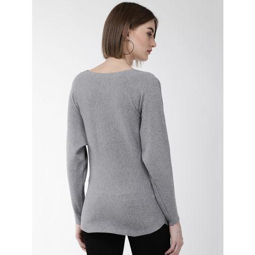 Fort Collins Women Grey & Pink Applique Detail Sweater