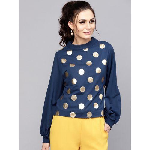 Sassafras Full Sleeve Solid Women Sweatshirt