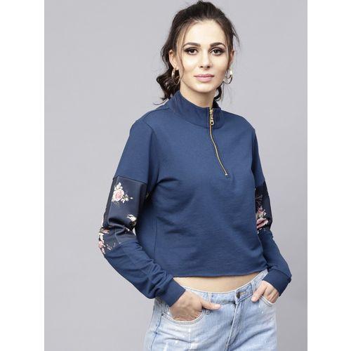 Sassafras Full Sleeve Floral Print Women Sweatshirt