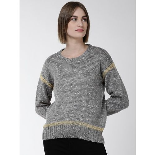 Fort Collins Women Grey Self-Design Sweater