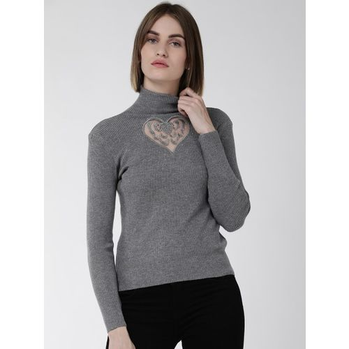 Fort Collins Women Grey Solid Sweater