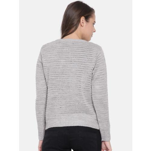 Duke Women Grey Self Design Pullover