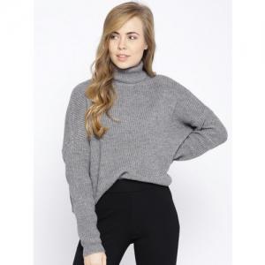 Vero Moda Women Grey Solid Pullover