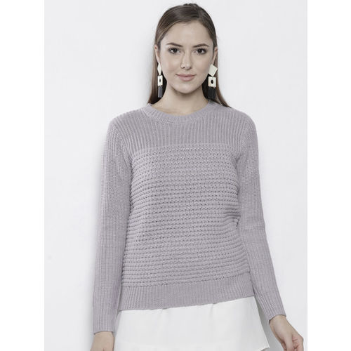DOROTHY PERKINS Women Grey Self Design Pullover
