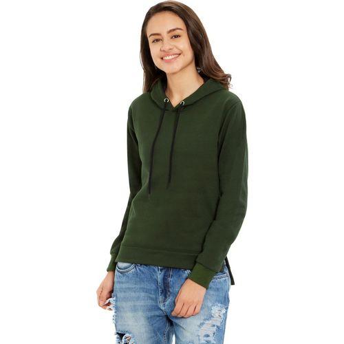 Maniac Full Sleeve Solid Women Sweatshirt