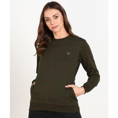 Breil By Fort Collins Full Sleeve Solid Women Sweatshirt