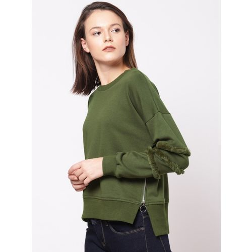 ether Full Sleeve Solid Women Sweatshirt