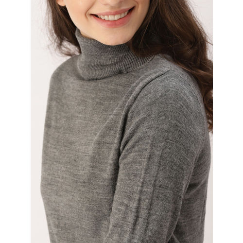 DressBerry Women Grey Solid Pullover